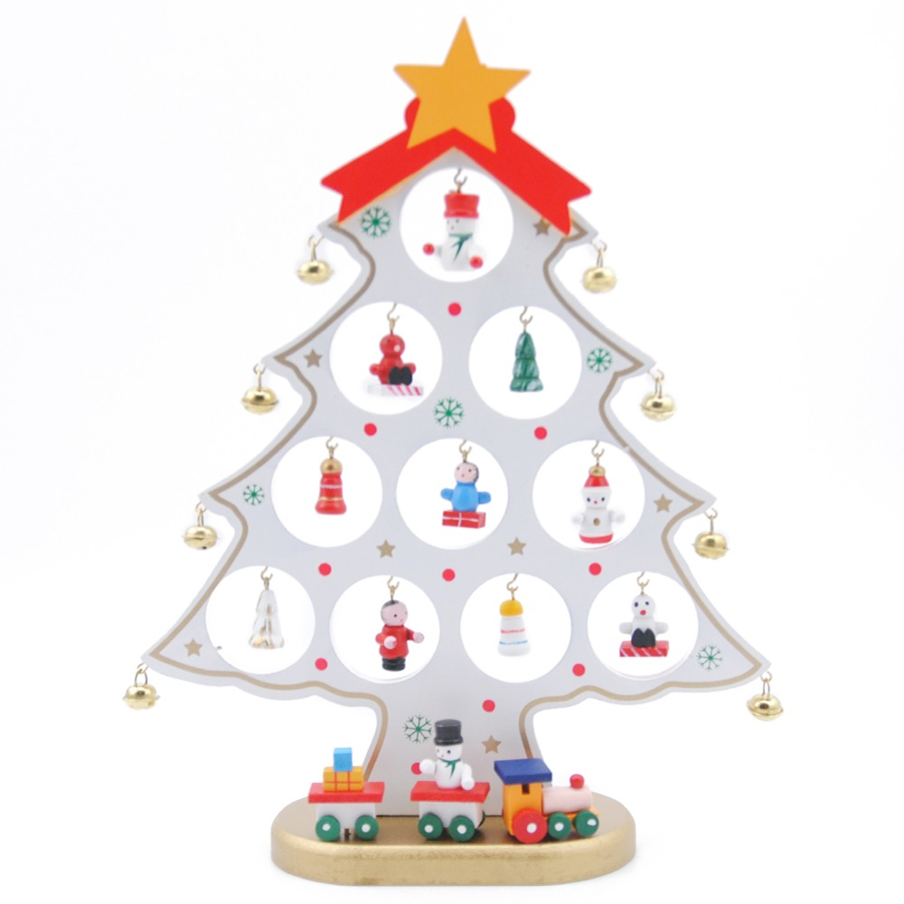 Puzzle Toys Creative DIY Wooden Toys Christmas Tree Shape Decoration ...