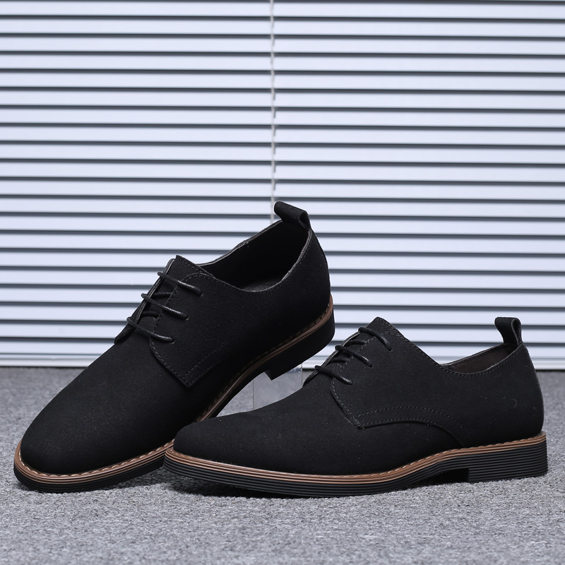 HTB1UWAGNIfpK1RjSZFOq6y6nFXat High Quality Suede Leather Soft Shoes Men Loafers Oxfords Casual Male Formal Shoes Spring Lace-Up Style Men's Shoes