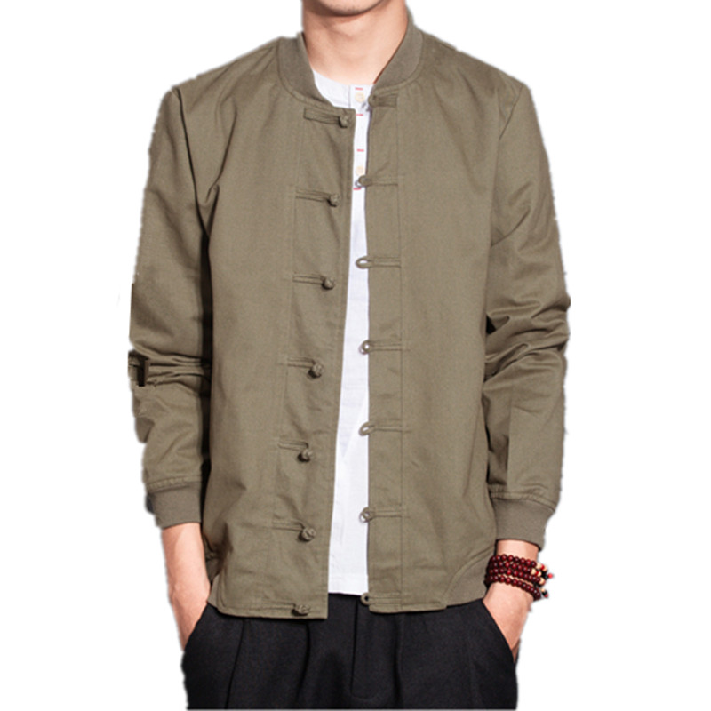 2019 Chinese Style Men's New Cotton And Hemp Leisure Disk Button Retro Top, Tang Suit And Linen Chinese-style Jacket Tide 700111
