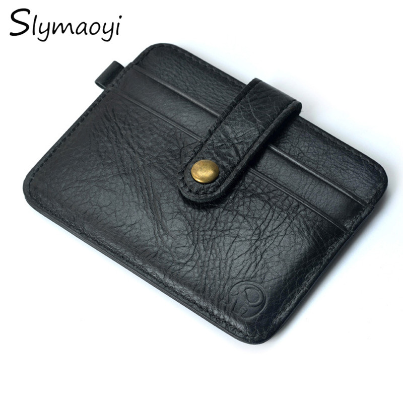 100% Real Leather Wallet Mini Wallets Hasp Small Purse Men Purses Male Clutch Women Crazy Horse Leather Vintage Card Package baellerry small mens wallets vintage dull polish short dollar price male cards purse mini leather men wallet carteira masculina