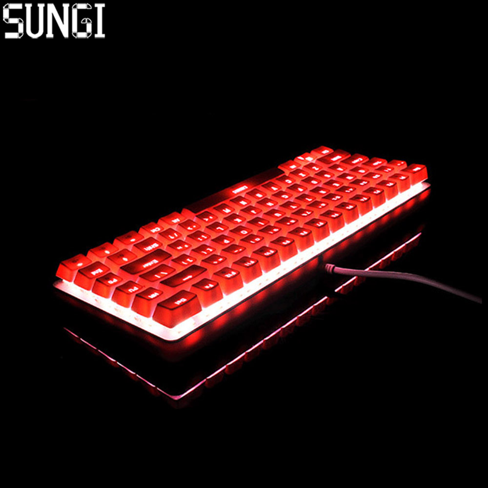 Mini Wired Mechanical Keyboard 82 Keys With Axis RGB Backlit Gaming Mechanical Keyboard For PC Tablet Desktop Computer gaming motorspeed bluetooth usb wired mechanical keyboard 87 keys real rgb backlight blue switch for laptop desktop for gamer computer