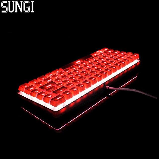 Mini Wired Mechanische Tastatur 82 Tasten Mit Achse RGB Backlit Gaming Mechanische Tastatur Für PC Tablet Desktop Computer gaming