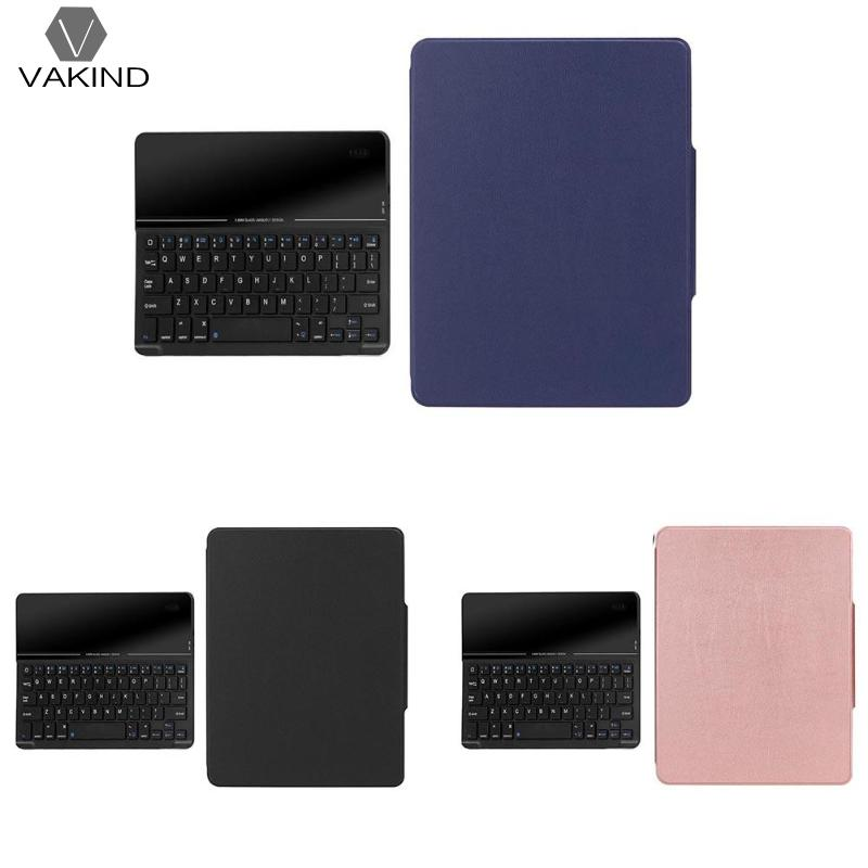 VAKIND Bluetooth Wireless Tablet Keyboard 3*Color Glass Leather Case Cover Suitable w/Pen Slot for iPad 9.7 2018 Accessories