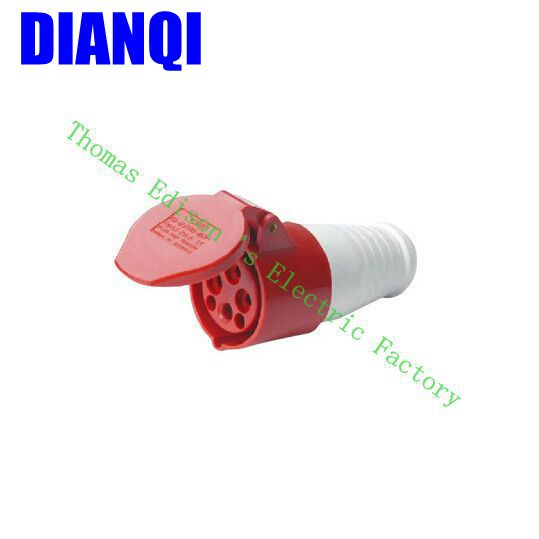 Industrial Coupler Socket Plug 224 CNQD-224 Red 32A 220V~415V 3P+E 4pin 60PCS/carton high quality ac 360 415v 16a ie 0140 4p e free hanging industrial plug red white
