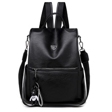 2019 New Anti-theft PU Leather Backpack Women Waterproof School Bags for Teenage Girls High Quality Fashion Travel Tote Backpack high quality leisure women backpack pu leather chest shoulder bags for teenage girls travel school back pack fashion 2019 new