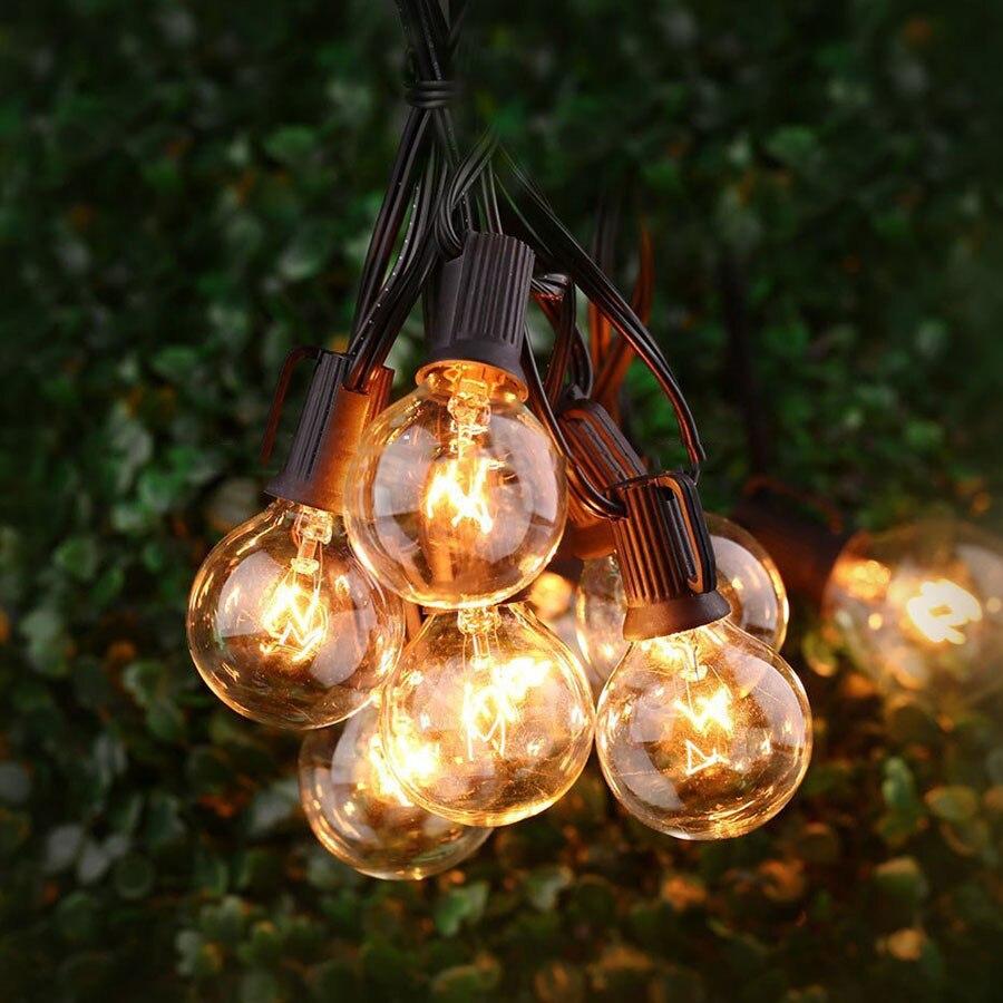 beiaidi 25ft g40 globo luzes da corda 02