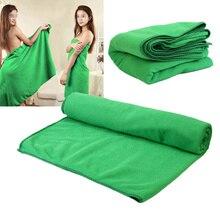 70*140cm Thin Absorbent Towels Green Bath Beach Sport Absorbent Towels Travel Sport Gym Drying Camping Swimwear Shower