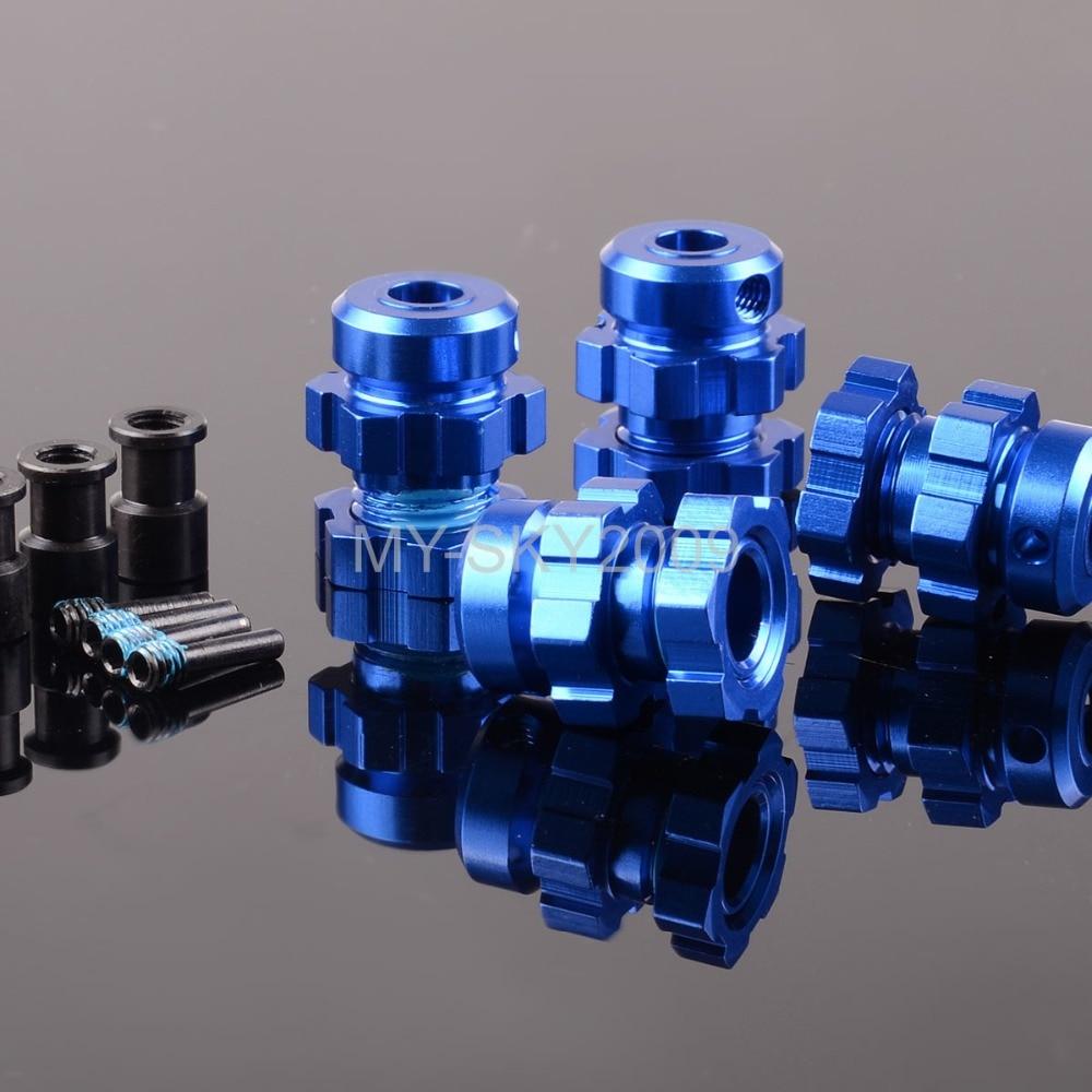 T-Maxx 2.5 3.3 Blue Aluminum Wheel Adapter 23mm Hex for Traxxas Revo E-Maxx