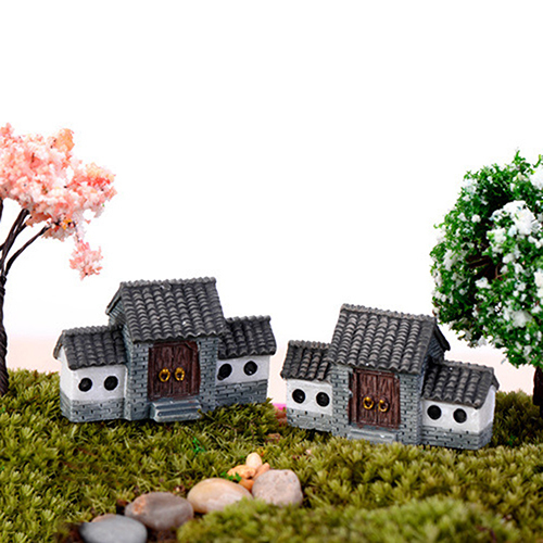 Dollhouse Miniatures DIY House Villa Woodland Fairy Planter Garden Home Decor