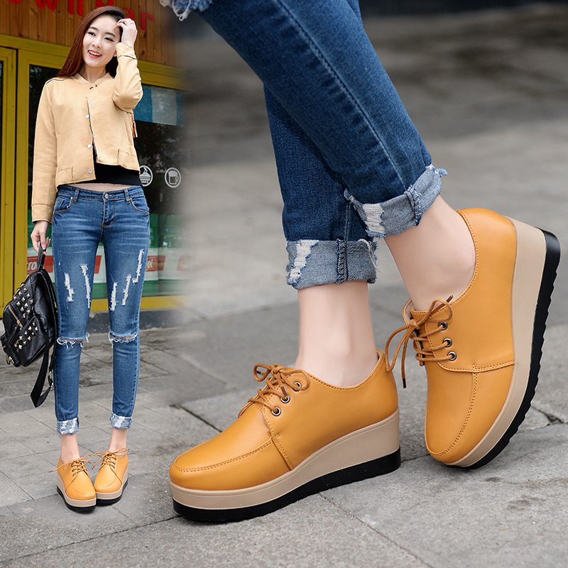 Brand Autumn Spring Moccasins Women Flats Fashion Flat Platform Shoes Women's Loafers Ladies Slip On Shoes Female hot sale 2016 new fashion spring women flats black shoes ladies pointed toe slip on flat women s shoes size 33 43