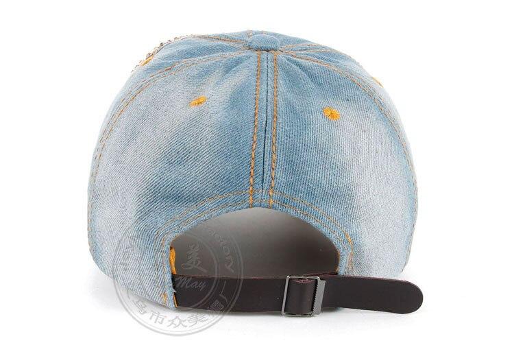 Высокое качество оптом и в розницу JoyMay шляпа Кепки Мода Досуг Стразы х/б джинсы лист Кепки S летние Бейсбол Кепки B235