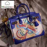 Fashion Luxury Premium Painted Female Platinum Bag Natural 100% Genuine Leather Handbag Animal Pattern Crossbody Bags for Women