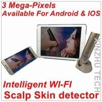 Интеллектуальный Wi Fi кожи головы детектор Беспроводной Цифровые микроскопы анализатор кожи с 3,0 м Сенсор для ISO/Windows/Android