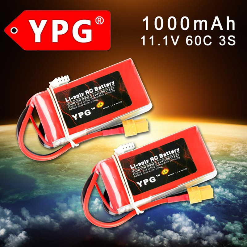 2P YPG 11.1V 1000MAH 60C 3S Lipo Battery packs batteria lipo For quadcopter &RC car Parts image