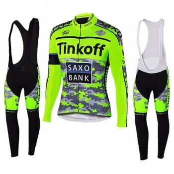 Tinkoff 2019 Pro equipo de manga larga Ciclismo Jersey Ropa de carreras...