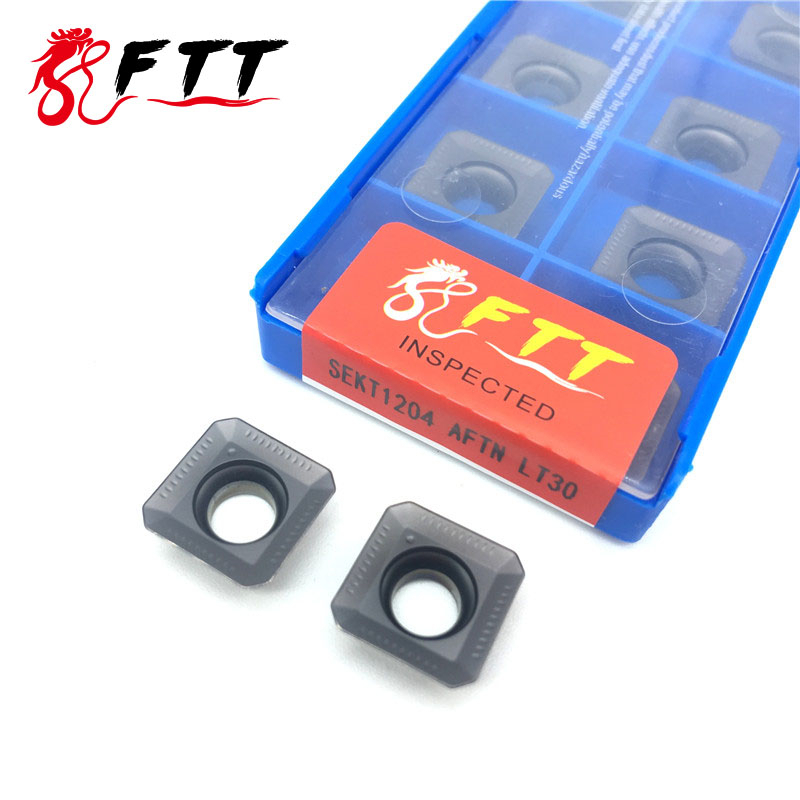 SEKT1204 AFTN LT30 Carbide Inserts Milling External Turning Tools High Quality Blade Lathe Cutter Plate Turning Tool