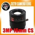 2 pcs 16mm CS Lens 3.0 Megapixel 1/2. 5 ''F1.4 CS Fixo CCTV IR Lente Para IR 720 P/1080 P IP Câmera de CCTV Segurança
