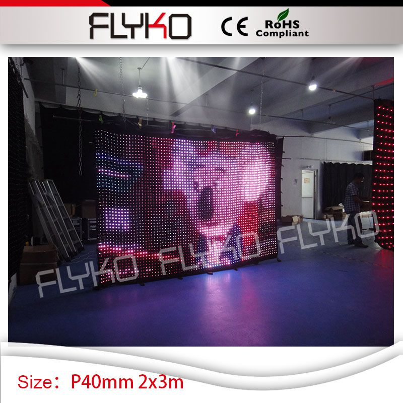 church flexible dance floor stage decoration factory supply P4 led vision spot lighting curtain backdrop 2x3m-in Stage Lighting Effect from Lights ... & church flexible dance floor stage decoration factory supply P4 led ...