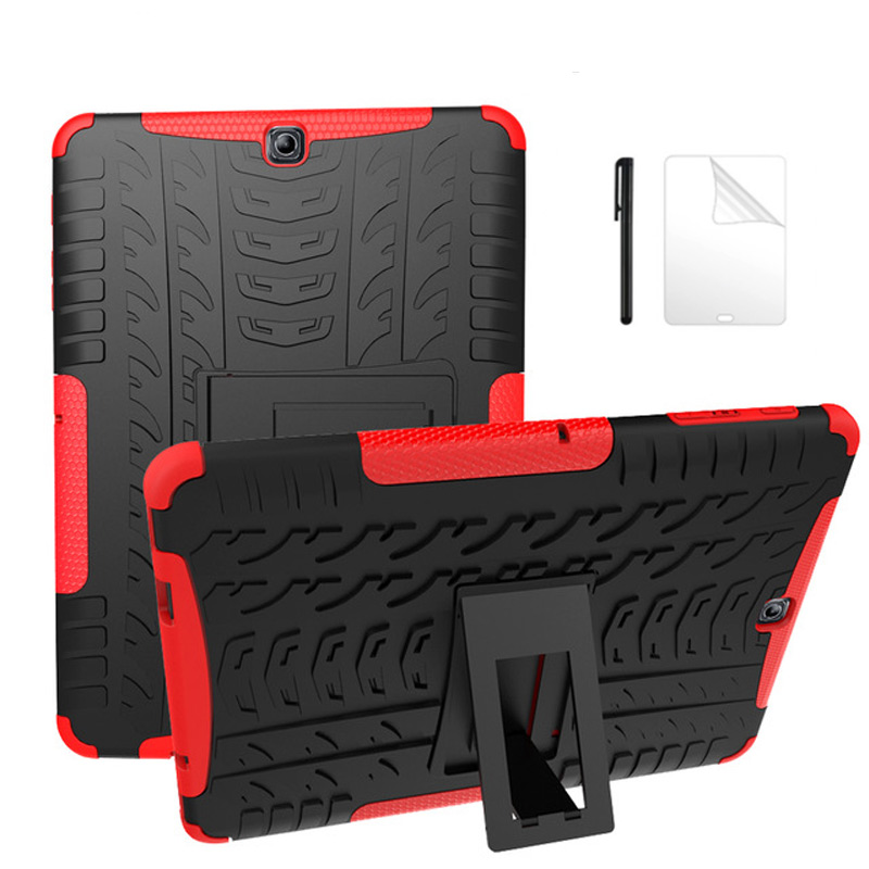 Heavy Duty Rüstung Reifen Stil Hybrid TPU PC Hard <font><b>Case</b></font> für <font><b>Samsung</b></font> GALAXY Tab S2 9,7 SM <font><b>T810</b></font> T815 T813 t819 tablet fall + Film + Stift image