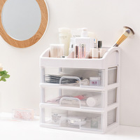 Storage drawers divider cosmetics stationery high capacity Storage Box drawer organizer PP plastic drawer storage cabinet