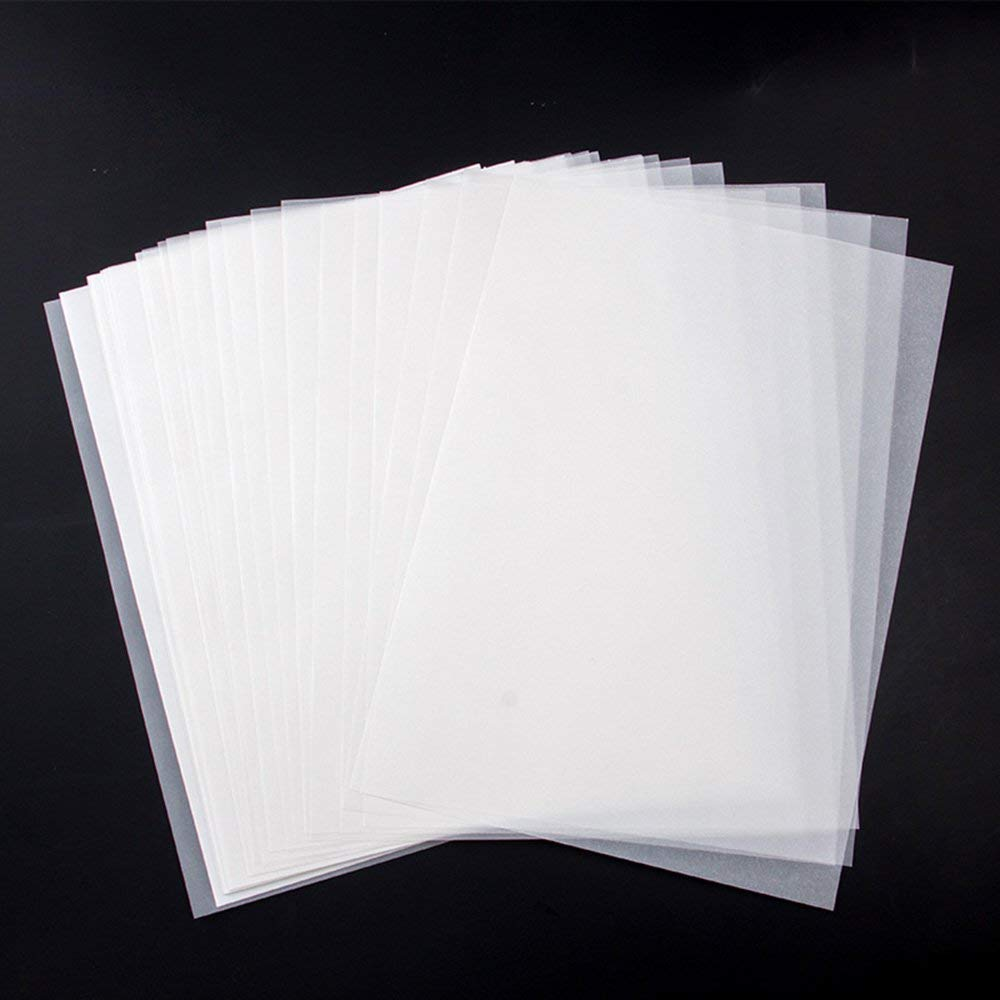 MyLifeUNIT 100 Sheets Tracing Paper Soft Off-White Translucent Pliable And Tough Tracing Paper - Not A Clear Transparent