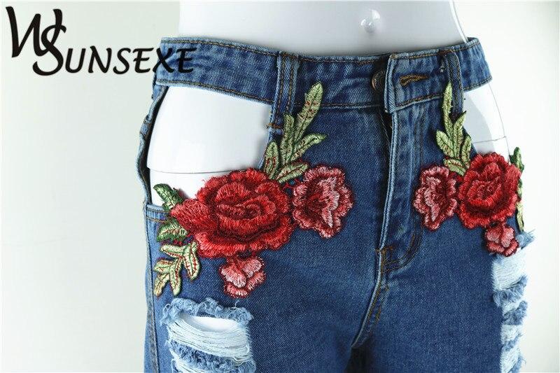 HTB1UWCjRpXXXXbgXXXXq6xXFXXXR - High Waist Shorts Denim Jeans Embroidery PTC 265