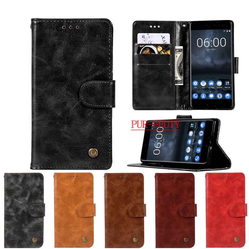Flip <font><b>Case</b></font> for <font><b>Nokia</b></font> <font><b>3</b></font> Global Dual TA-<font><b>1032</b></font> TA-1020 Retro fashion Wallet Phone Leather Cover for <font><b>Nokia</b></font> <font><b>3</b></font> TA 1020 <font><b>1032</b></font> Phone <font><b>case</b></font> image