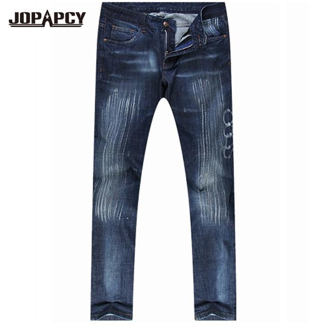 CALIENTE nueva moda llegada roca jeans men hip hop rock para hombre de mezclilla pantalones rectos ocasionales del mens pantalones de mezclilla MYA0380