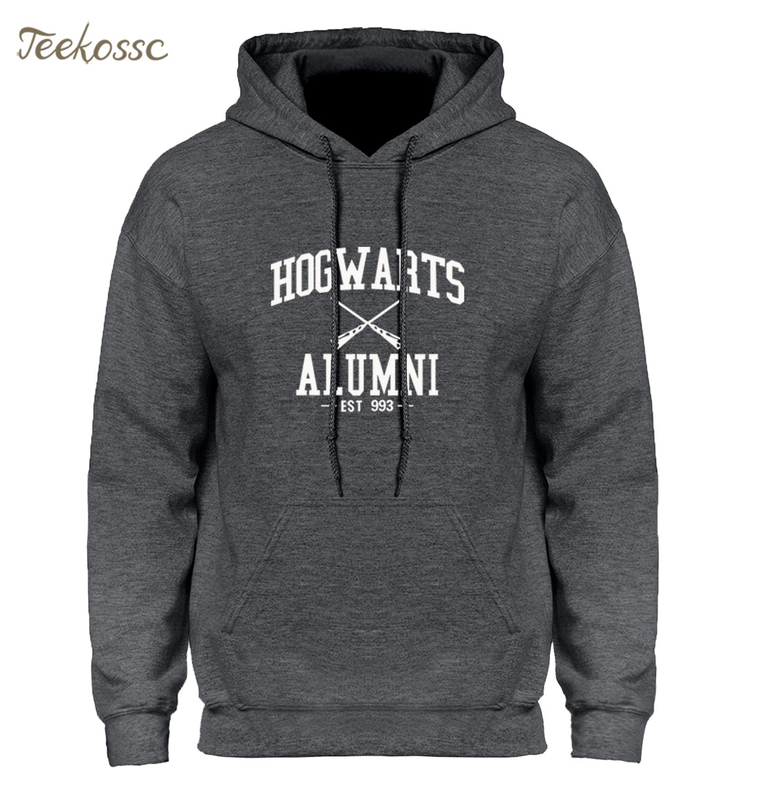 Hogwarts Alumni Hoodie Men Inspired Magic Hoodies Mens 2018 Winter Swag Harajuku Black White Hooded Sweatshirt