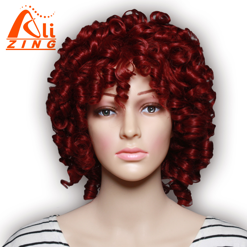 """Alizing Hair 12 """"парик косплей вьющиеся синтетические парики для женщин черные женщины длинные золотые черные 3 цветные парики с челкой"""