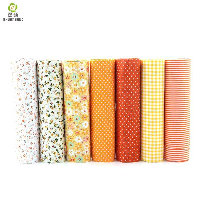 7 Chiếc 24X24 Cm Hỗn Hợp Cotton In Hình May Quilting Vải Cơ Bản Chất Lượng Cho Miếng Dán Cường Lực Bộ Kim Chỉ Tự Làm Handmade Vải