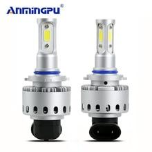 Anmingpu автомобиль свет H4 H7 LED H8/H11 HB3/9005 HB4/9006 СВЕТОДИОДНАЯ Лампа H1 9012 h13 90 Вт 12000lm авто лампы фары 6500 К Фары для авто