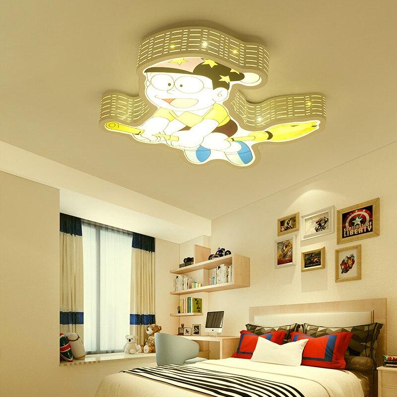 Креативный Железный акриловый мультяшный Японский Корейский светодиодный потолочный светильник для мальчиков и девочек, лампа для детей, ...