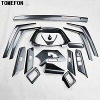 Tomefon 17 шт. для Toyota RAV4 RAV 4 2014 ABS углеродного волокна Краски спереди шахматная доска вентиляционное отверстие Панель внутренние двери аксессуа