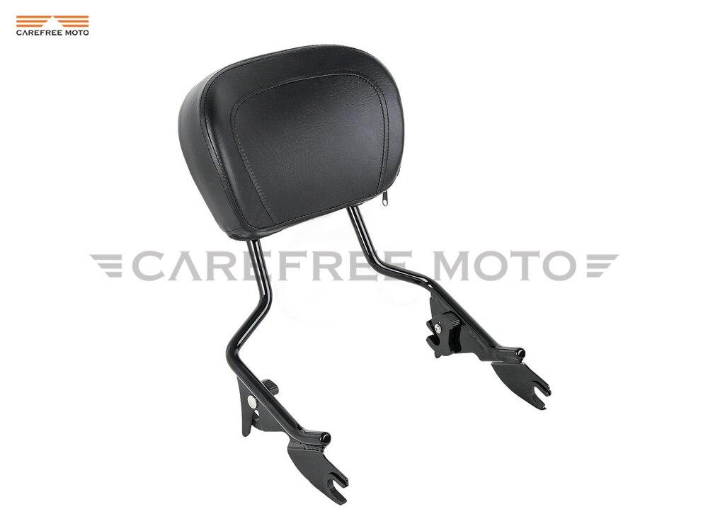 Motorcycle detachable sissy bar passenger backrest moto rear decoration case for harley touring stree