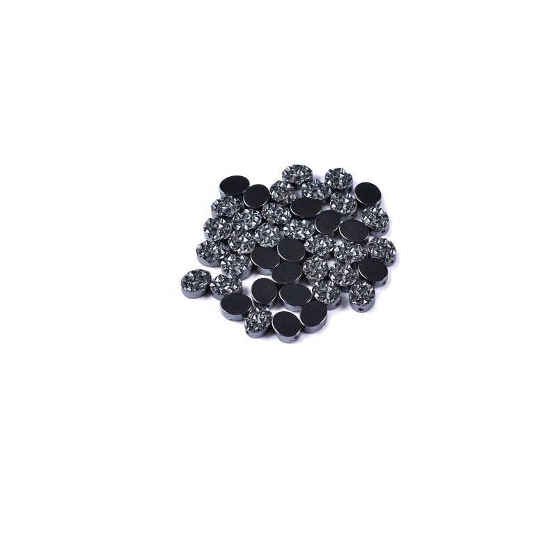 AAA 1 paczka/partia 10/14mm kamień naturalny jasny hematyt koraliki owalny kształt Druzy luźne koraliki do naszyjnik DIY bransoletka tworzenia biżuterii