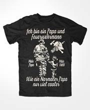 Mode Männer Männer Hip Hop 3D Druck Feuerwehr Papa T-Shirt Freiwillige, Ffw, Helden, Einsatz, Rettung, rettungs, Vater, Kindnerd T Shirts