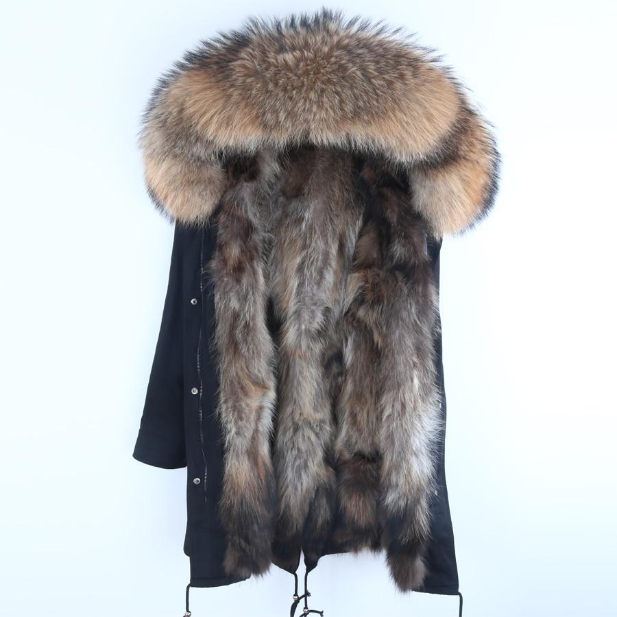 Real Fur   Parka   Men Winter Jacket Real Raccoon Fur Hooded Coats Nature Raccoon Dog Lining Jacket Man Real Fur Coat