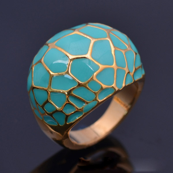 new 2017 the gold color alloy wedding rings for women with light blue enamel jewelry for women 825 best wholesale price