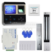Fingerprint ID Card Reader 125KHz Door Access Control System 280kg Magnetic Lock Kit