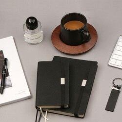 Czarny biznes biuro spotkanie bandaż Notebook miękkie etui dziennik Agenda podróży wielofunkcyjny przerywana linia siatki papieru Planner A5