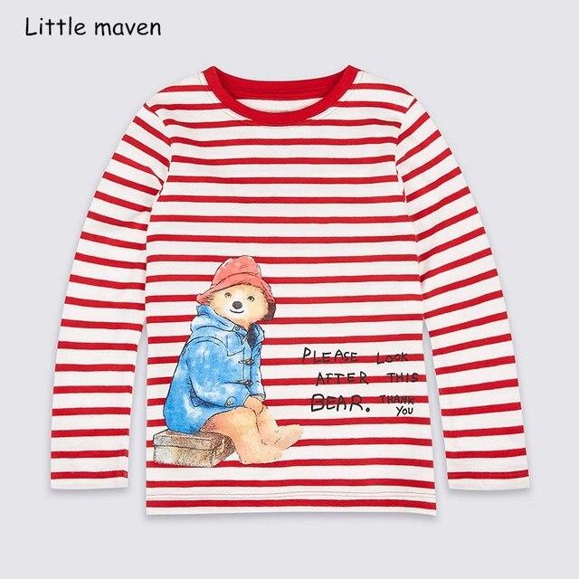 23a0d0990 Little maven niños marca bebé niños ropa 2018 otoño nuevos niños algodón manga  larga cuello redondo