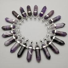 Модные подвески и ожерелья из натурального камня с фиолетовым