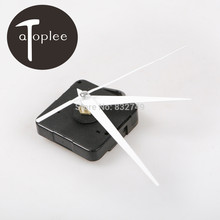 New 1PCS White DIY Quartz Clock Movement Kit Spindle Mechanism Repair with hand sets Free Shipping