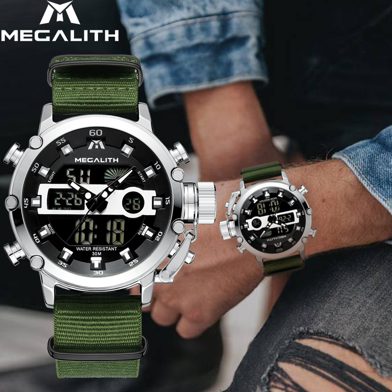 MEGALITH Top Brand Casual Watches Men Luminous Sport Waterproof Men Luxury Date LED Analog Quartz Watch Clock Relogio MasculinoMEGALITH Top Brand Casual Watches Men Luminous Sport Waterproof Men Luxury Date LED Analog Quartz Watch Clock Relogio Masculino