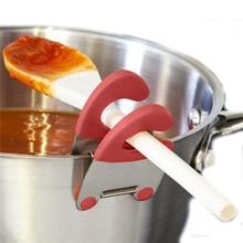 Useflul зажимы для кастрюль из нержавеющей стали щипцы держатель для кастрюли ложка держатель шпатель стеллаж для хранения кухонные инструменты для приготовления пищи