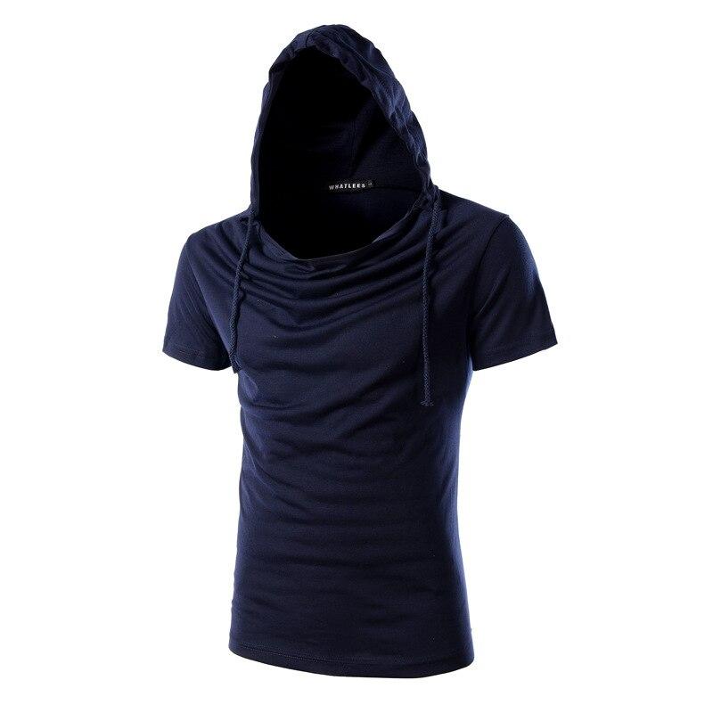 T font b shirt b font Short sleeved Hooded font b Men b font 2017 male