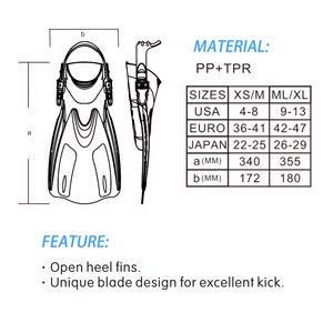 Image 5 - Marka nurkowanie płetwy do pływania regulowane dla dorosłych krótkie buty do nurkowania płetwy do pływania Trek Foot Flipper nurkowanie Flippers z obcasem