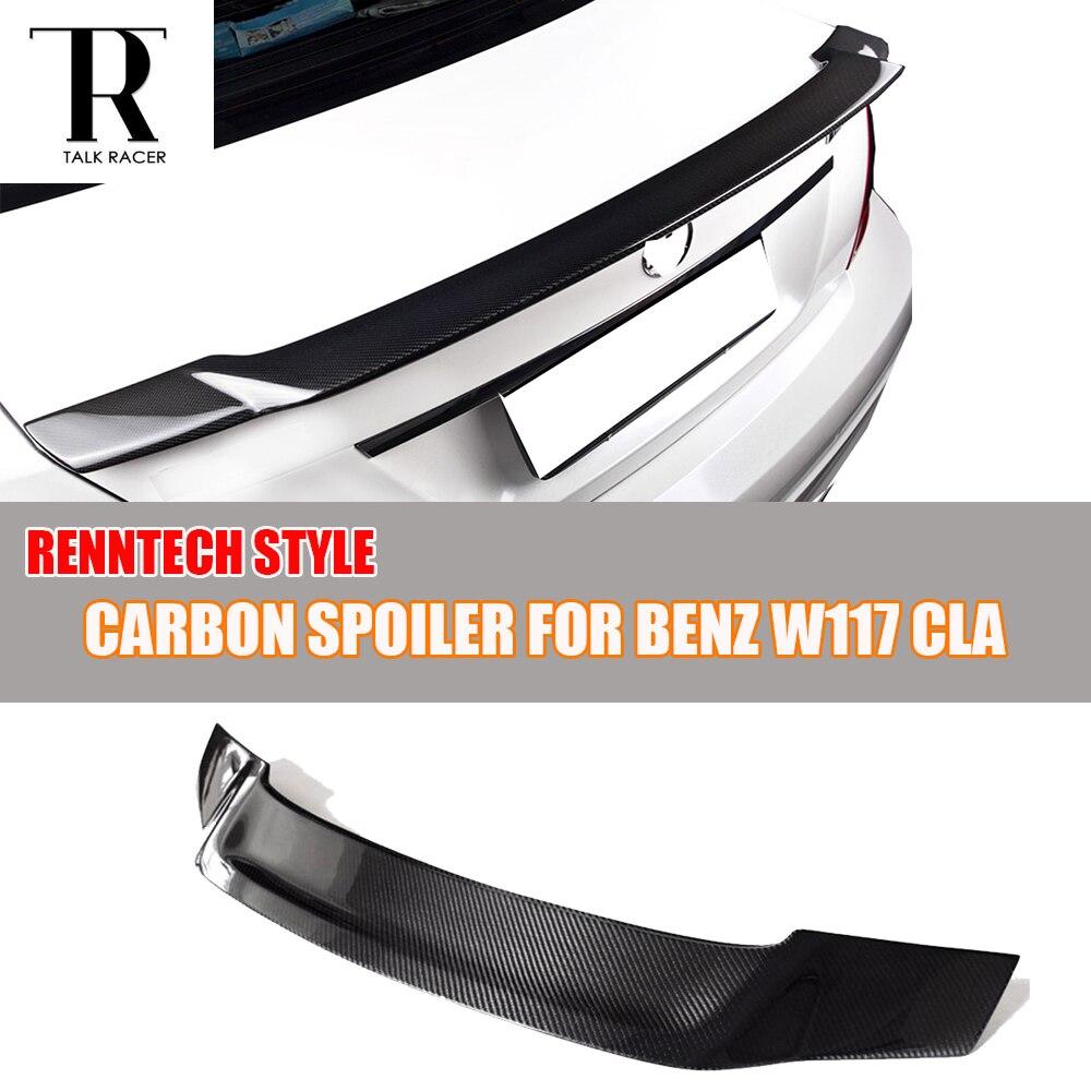 C117 W117 R Style Carbon Fiber Rear Li Wing for Mercedes Ben ClA180 CLA200 CLA250 & CLA45 AMG 2013 - 2016 цена