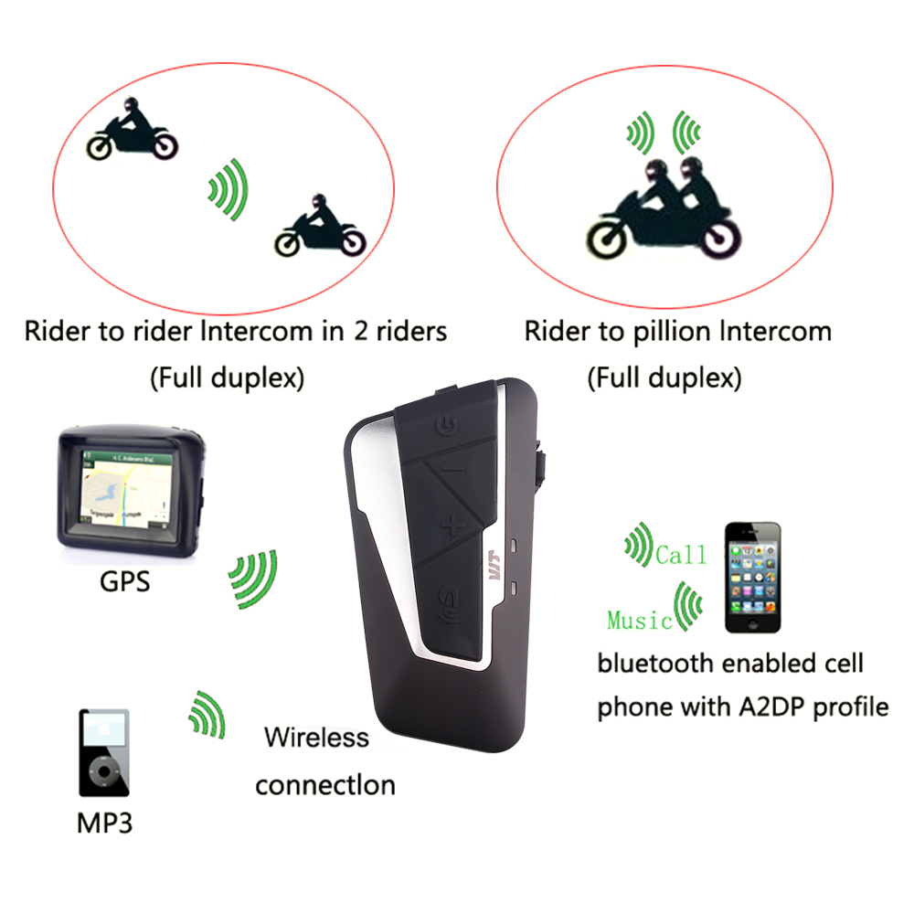 Fodsports 1200M Motorrad Intercom Bluetooth Helm Headset Motorrad Helm Intercom Mit FM Verbinden Handy BT-S2 Freedconn